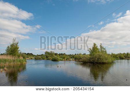 Lake Somosen In The Suburbs Of Copenhagen Denmark