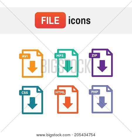 Document Icon Set. File Icons