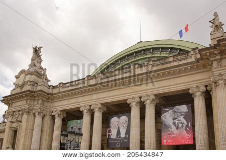 Paris; France- May 01; 2017:The Grand Palace is a majestic architectural building in the style of bos-ar. It is known as a cultural and exhibition center