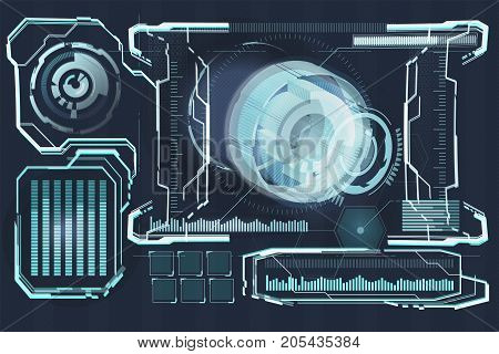 future technology, blue eye cyber security concept background, abstract hi speed digital internet.motion move speed blur.
