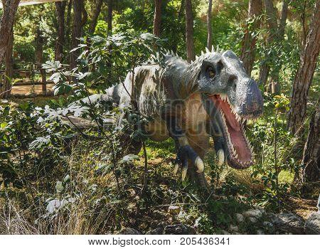 Kemer;Turkey- September 06; 2017: Irritator- Early Cretaceous /110 million years ago. In the Dinopark