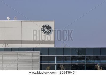Lafayette - Circa September 2017: General Electric Factory. GE's new CEO is preparing job cuts in a bid to reduce costs XIV