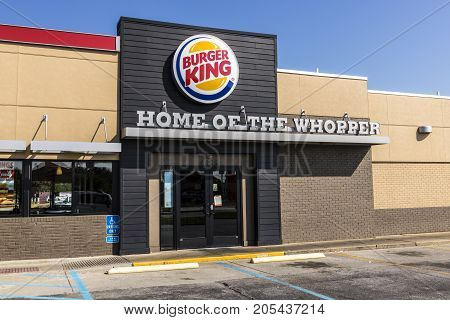 Lafayette - Circa September 2017: Burger King Retail Fast Food Location. Every day more than 11 million guests visit Burger King VI