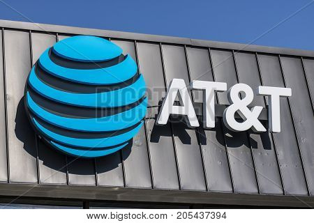Lafayette - Circa September 2017: AT&T Mobility Wireless Retail Store. AT&T now offers IPTV VoIP Cell Phones and DirecTV XX