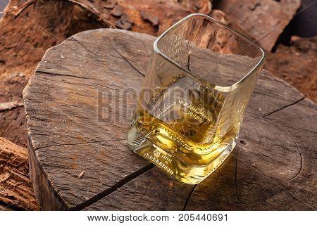 Whiskey On Tree Stump