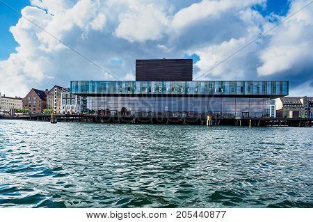 Buildings and playhouse in the city Copenhagen Denmark.