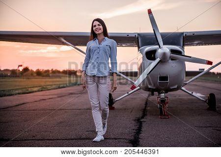Woman And Aircraft