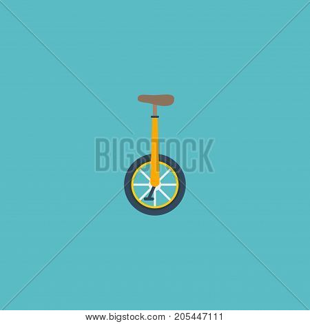 Flat Icon Monocycle Element. Vector Illustration Of Flat Icon Unicycle Isolated On Clean Background