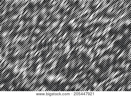 Abstract monochrome pattern, grunge, halftone effect, uneven, changing the thickness of the lines. The element of design to create layouts, skins, printing on paper, fabric, wrap. Vector illustration