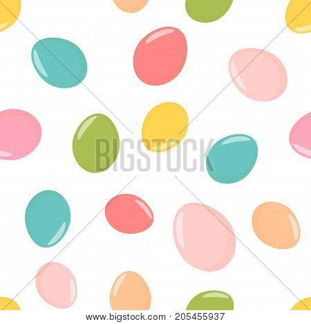 Seamless pattern with easter eggs vector illustration