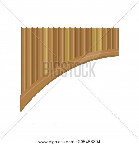 illustration of pan pines on white background. Musical instruments topic.