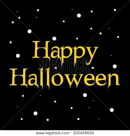 illustration of Happy Halloween text on the occasion of Halloween