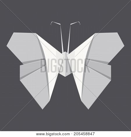 Origami butterfly concept background. Realistic illustration of origami butterfly vector concept background for web design