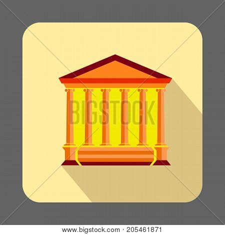 Ancient museum concept background. Cartoon illustration of ancient museum vector concept background for web design