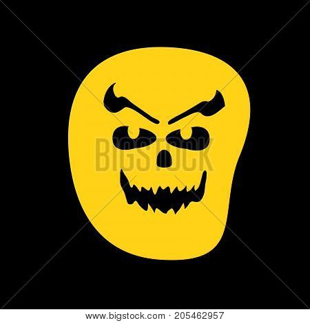 illustration of scary face on the occasion of Halloween