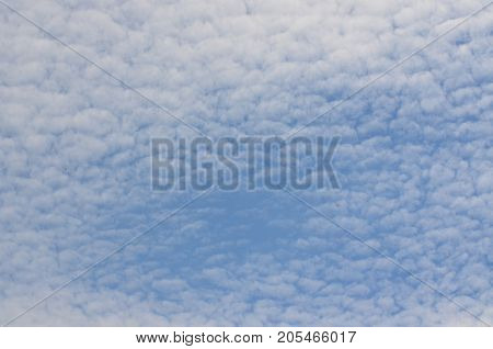 background of blue and white sky southern Bohemia Czech Republic