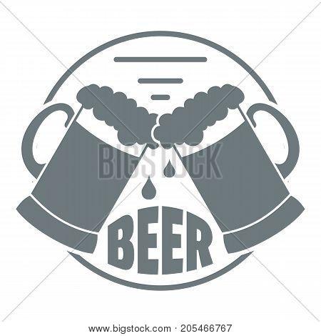 Best glass beer logo. Simple illustration of best glass beer vector logo for web