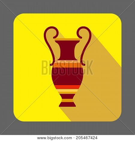 Museum ancient vase concept background. Cartoon illustration of museum ancient vase vector concept background for web design