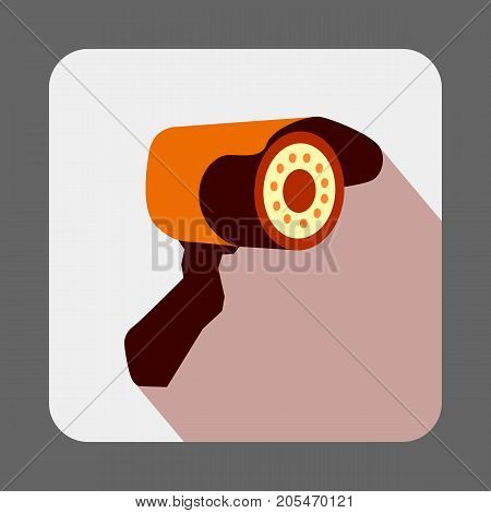 Museum security camera concept background. Cartoon illustration of museum security camera vector concept background for web design