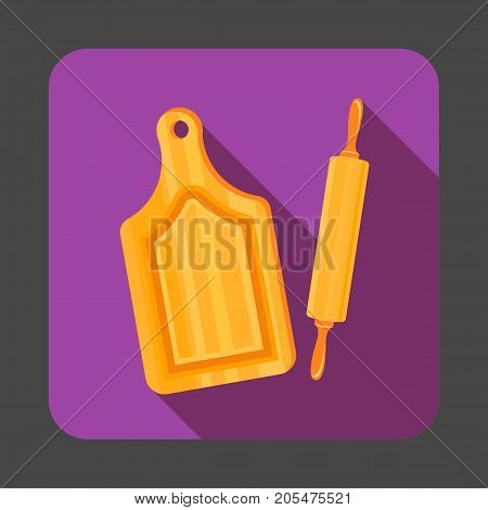 Rolling pin concept background. Cartoon illustration of rolling pin vector concept background for web design