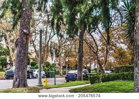 Luxury suburb in southern California in USA