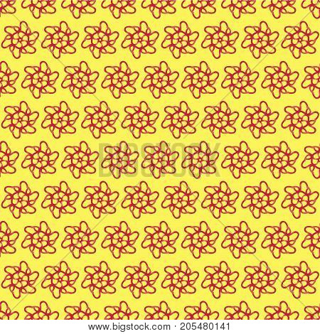 seamless vector pattern made of geometric shapes red gradient colors. For creativity and design