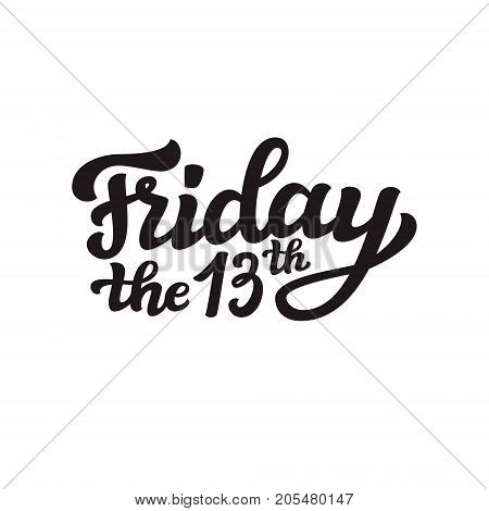 Friday The 13Th. Vector Calligraphy