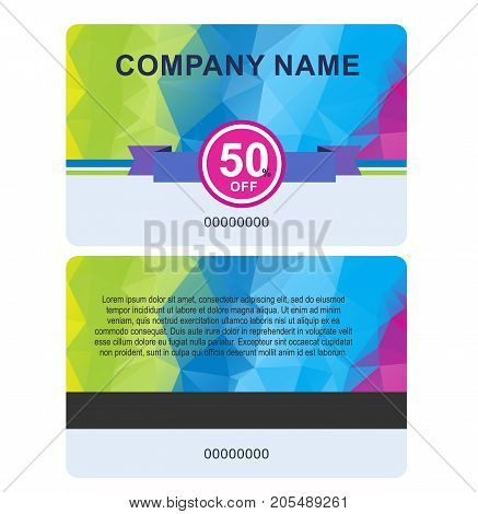 sale card template isolated on white background.