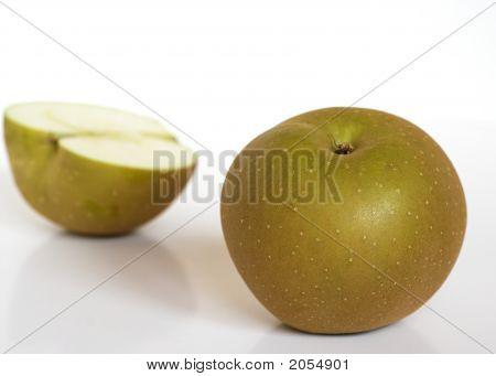 Two Golden Russet Apples