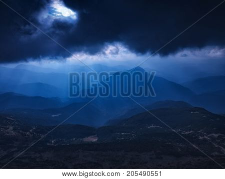 The Rays Of Moonlight Shines To The Valley
