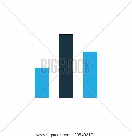 Premium Quality Isolated Column Element In Trendy Style.  Chart Colorful Icon Symbol.