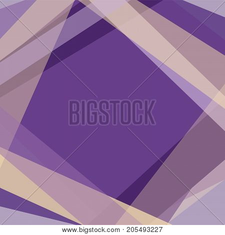 Geometric square background with violet and yellow strokes composing rhombus. Vector EPS 10