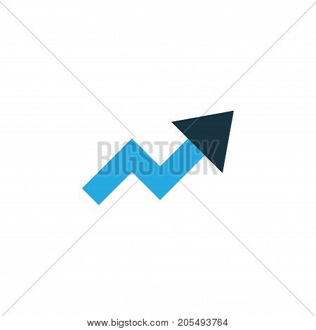 Premium Quality Isolated Increase Element In Trendy Style.  Trend Colorful Icon Symbol.