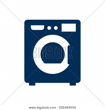Vector Machine Element In Trendy Style.  Isolated Washer Icon Symbol On Clean Background.