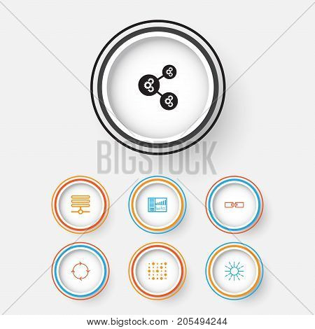 Machine Icons Set. Collection Of Lightness Mode, Related Information, Recurring Program And Other Elements