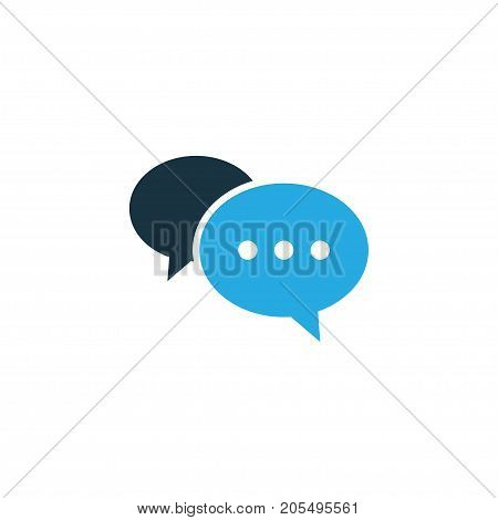 Premium Quality Isolated Chatting Element In Trendy Style.  Comment Colorful Icon Symbol.