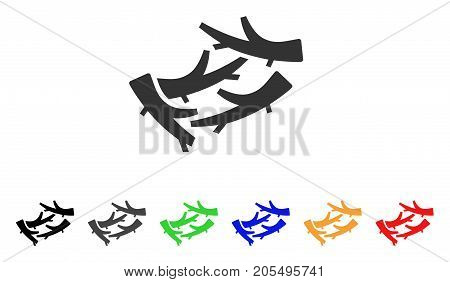 Firewood icon. Vector illustration style is a flat iconic firewood symbol with black, grey, green, blue, red, orange color additional versions. Designed for web and software interfaces.