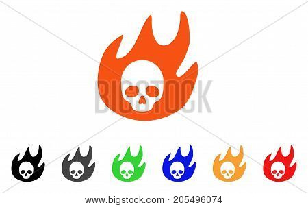 Hell Fire icon. Vector illustration style is a flat iconic hell fire symbol with black, gray, green, blue, red, orange color additional versions. Designed for web and software interfaces.