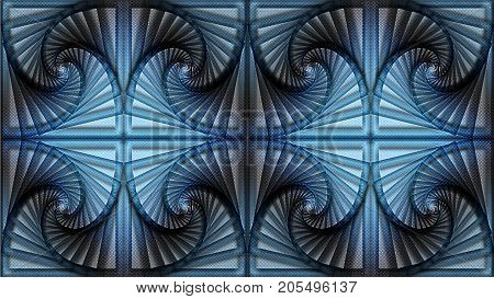Abstract background in blue-black tones can be used in the design of your site design textile printing industry in a variety of design projects