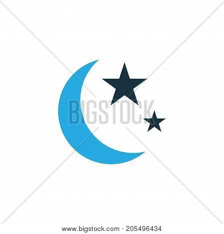 Premium Quality Isolated Nacht Element In Trendy Style.  Isha Colorful Icon Symbol.
