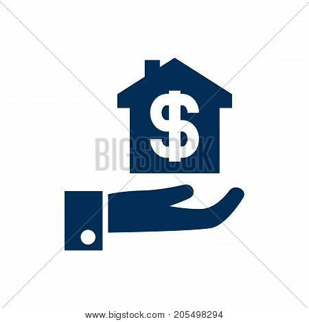 Vector Hypothec Element In Trendy Style.  Isolated Mortgage Icon Symbol On Clean Background.