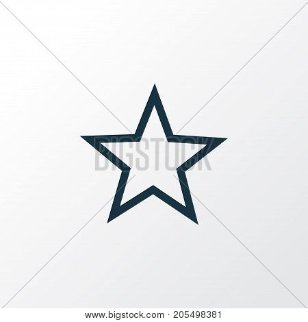 Premium Quality Isolated Favorite Element In Trendy Style.  Star Outline Symbol.