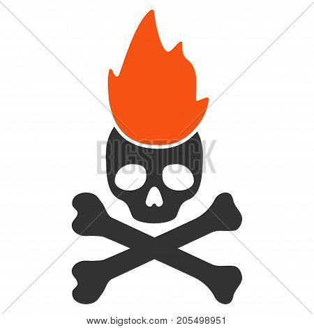 Hell Fire flat vector icon. An isolated illustration on a white background.