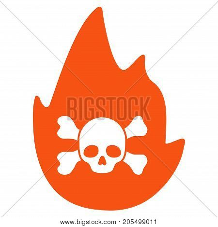 Hellfire flat vector icon. An isolated illustration on a white background.