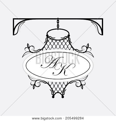 A signboard for decorating your ideas. Can be used as a frame, signboard. Vector.