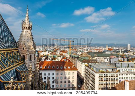 View From The Tower Of The St. Stephen's Cathedral, Vienna, Austria