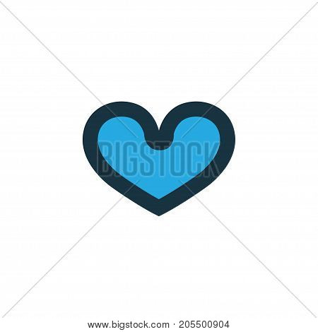Premium Quality Isolated Heart Element In Trendy Style.  Soul Colorful Icon Symbol.