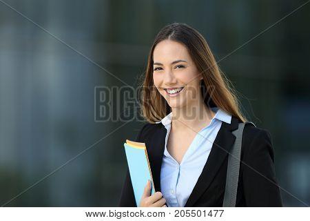 Happy Executive Posing Looking At You