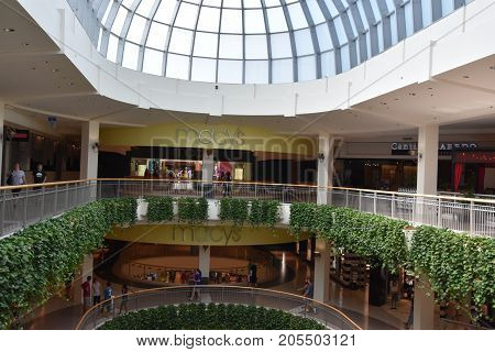 BLOOMINGTON, MINNESOTA - JUL 27: Mall of America in Bloomington, Minnesota, as seen on July 27, 2017. It is the second largest mall in terms of leaseable space and the largest mall in the United States in terms of total floor area.