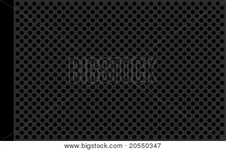 Perforate metallic gray flat